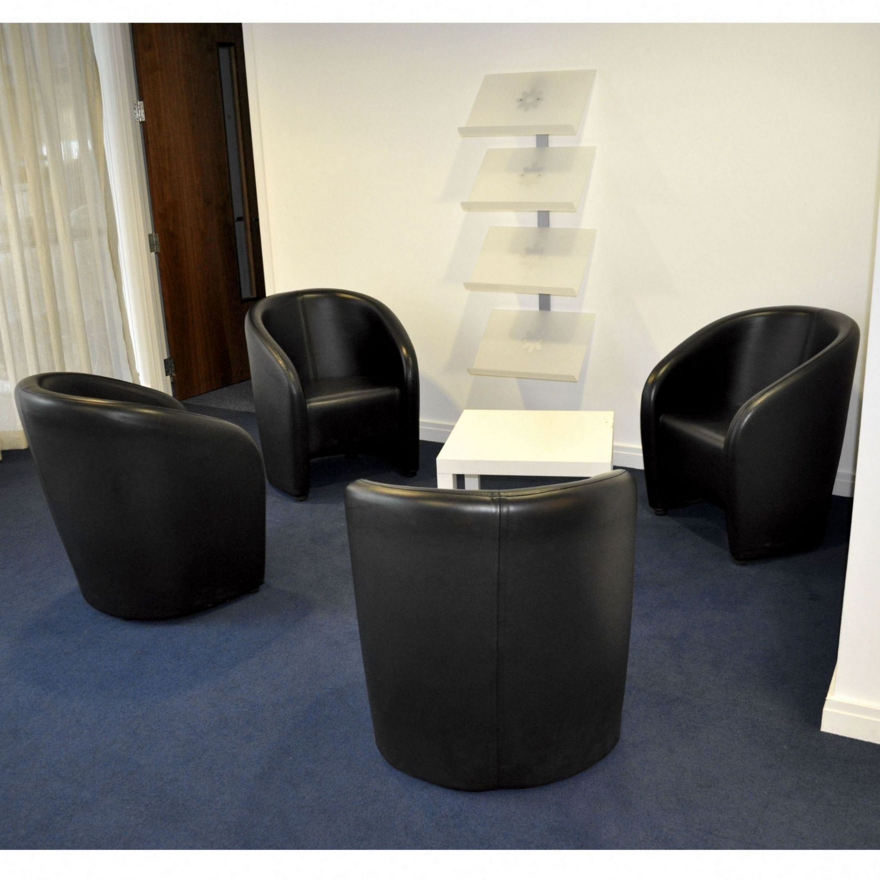 black leather reception chairs with storage tub chair seat in
