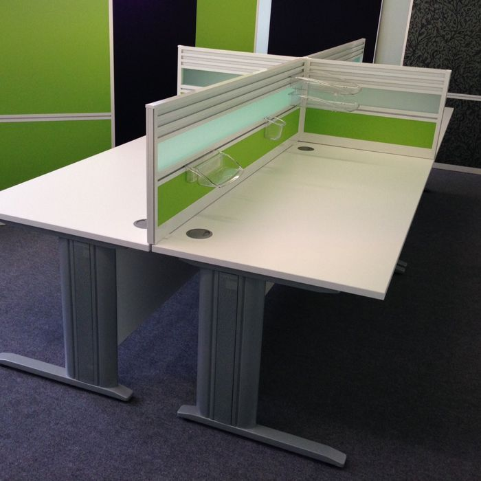 Desk Mounted Screen with Tool Rail  various other