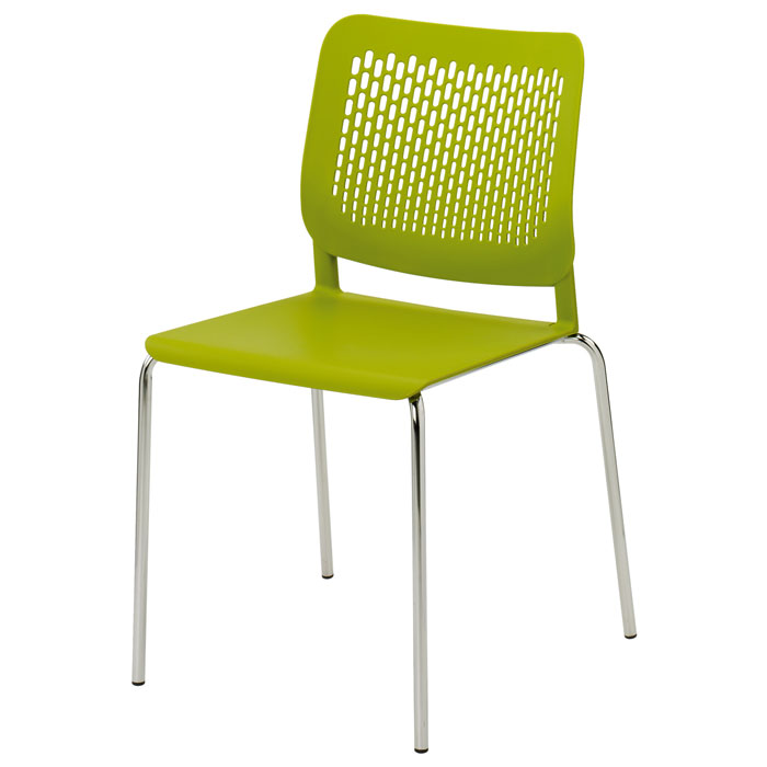 Funky Plastic Stacking Chair  plastic caf_ chair