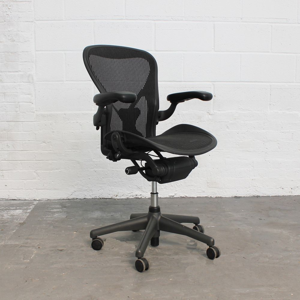 posturefit chair how much does it cost to get a reupholstered herman miller aeron size b adjustable arms posture fit office computer with