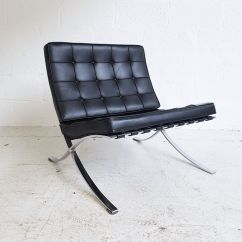 Barcelona Chair Used Stressless Chairs Knoll Black Leather Designer