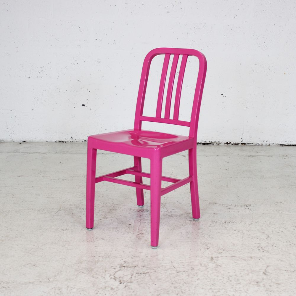 Pink Cafe Chair  bistro chair  pink metal chair