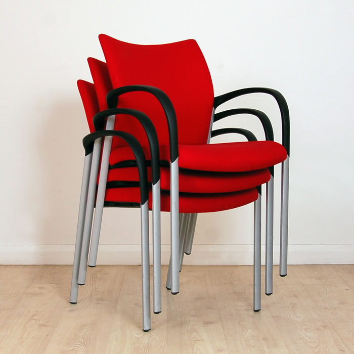 Senator Trillipse Meeting Chair Red Meeting Chair Meeting Chair With Fixed Arms