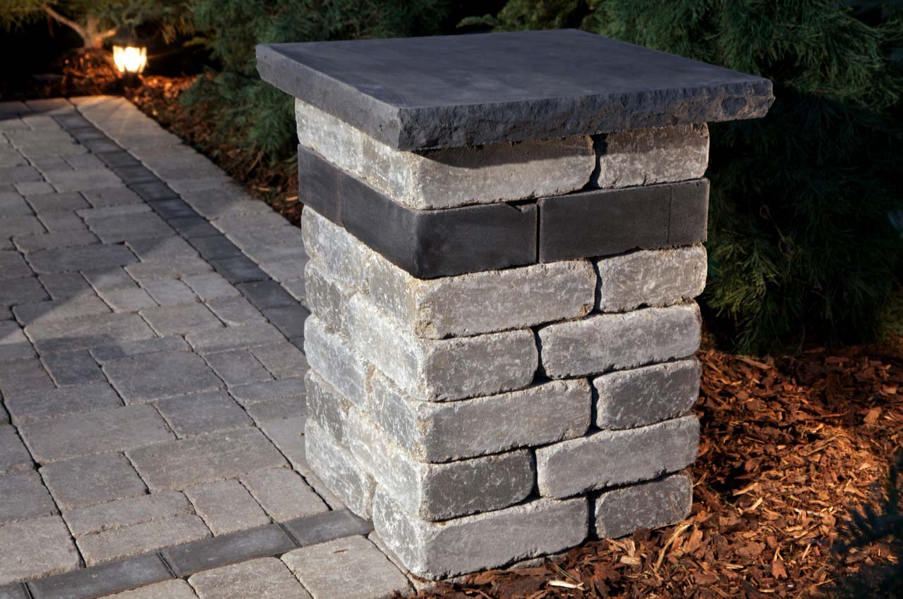 Stone Oasis Pillar with Roman Patio
