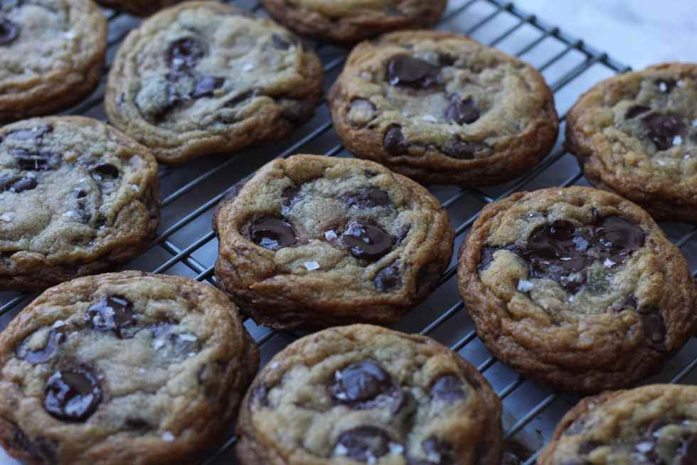 old photo of chocolate chip cookies