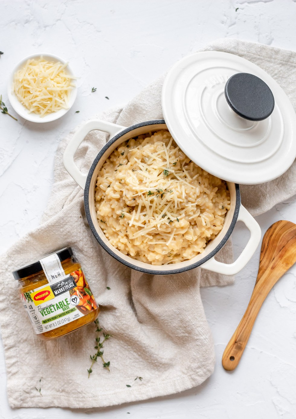 simple parmesan risotto with maggi marketplace premium vegetable base