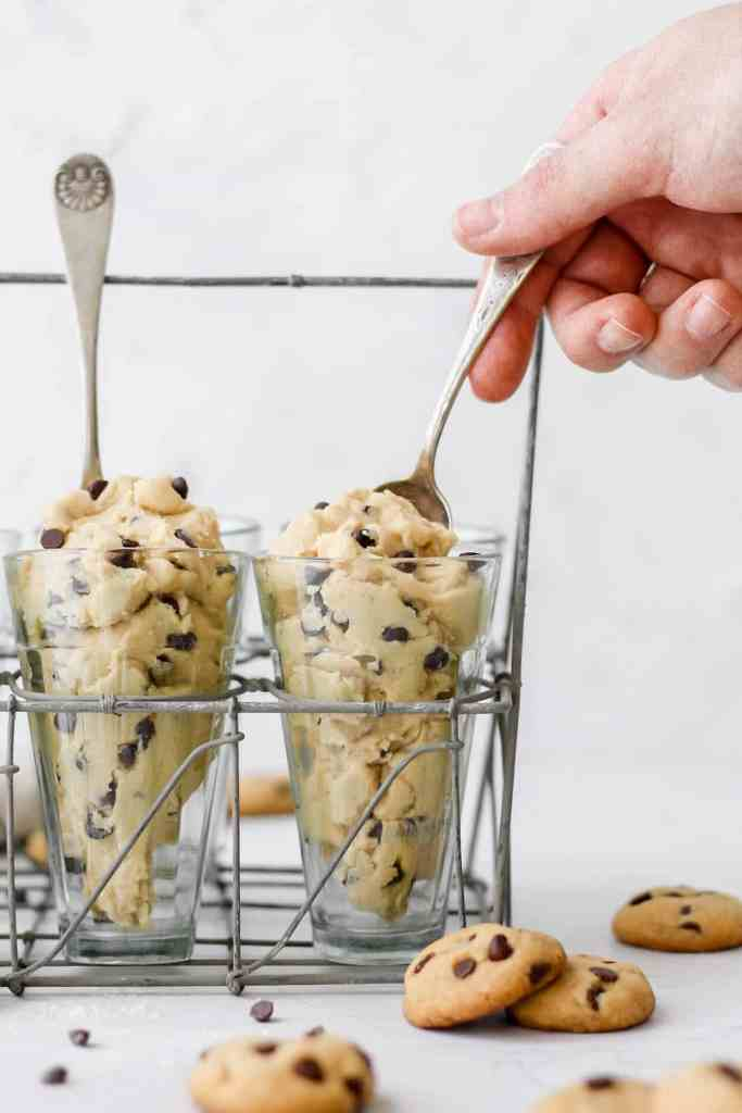 edible brown butter chocolate chip cookie dough
