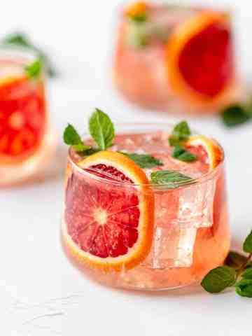 blood orange moscow mule 3 glasses