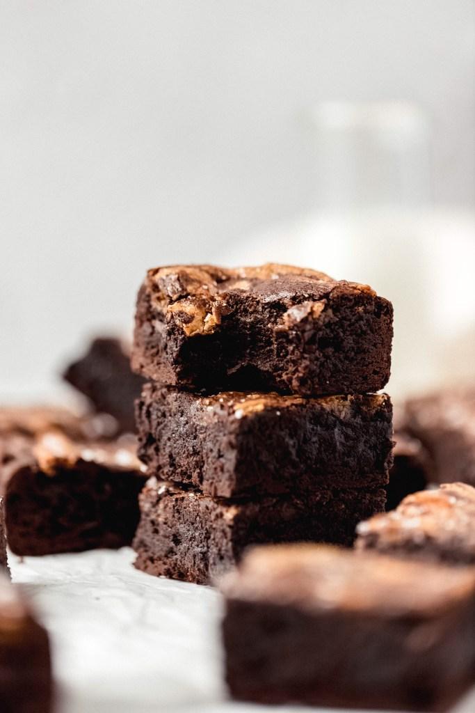 stack of halva brownies