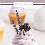 blackberry lavender cupcakes pin