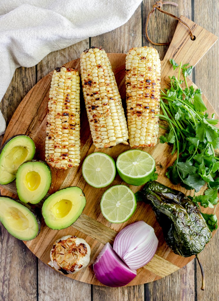 grilled corn and avocado salsa raw ingredients