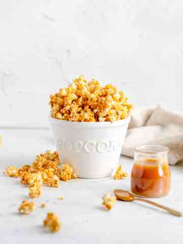 salted caramel popcorn from scratch