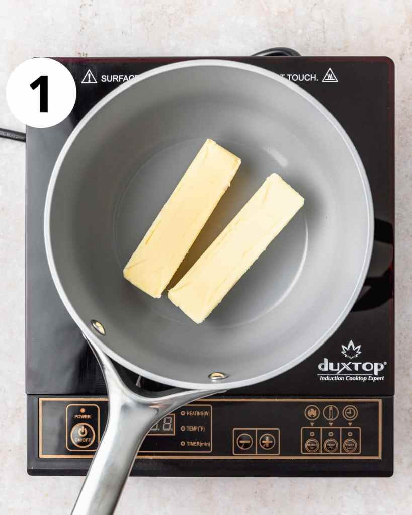 2 sticks of butter in a pot