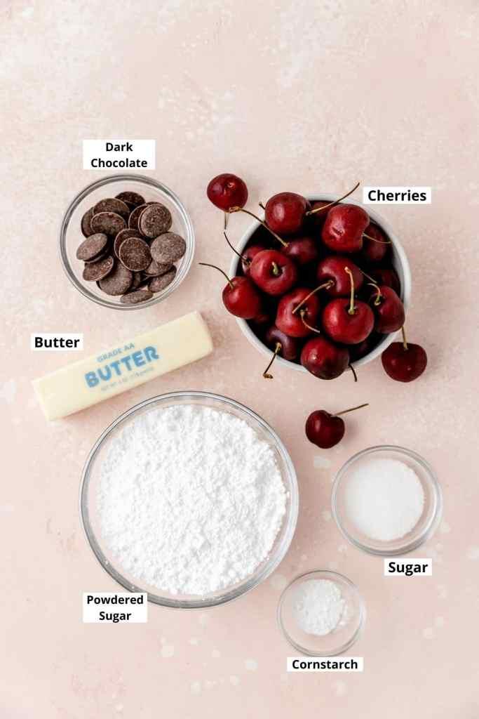 chocolate cherry macaron filling ingredients
