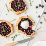 blueberry thyme galettes with vanilla ice cream