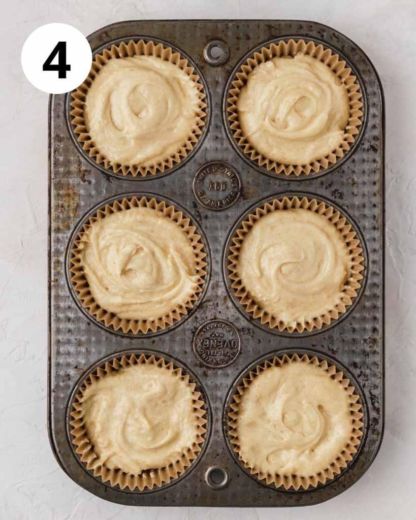 cupcake batter in muffin tin