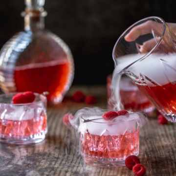 close up shot of love potion cocktail