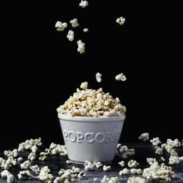 close up shot of brown butter popcorn