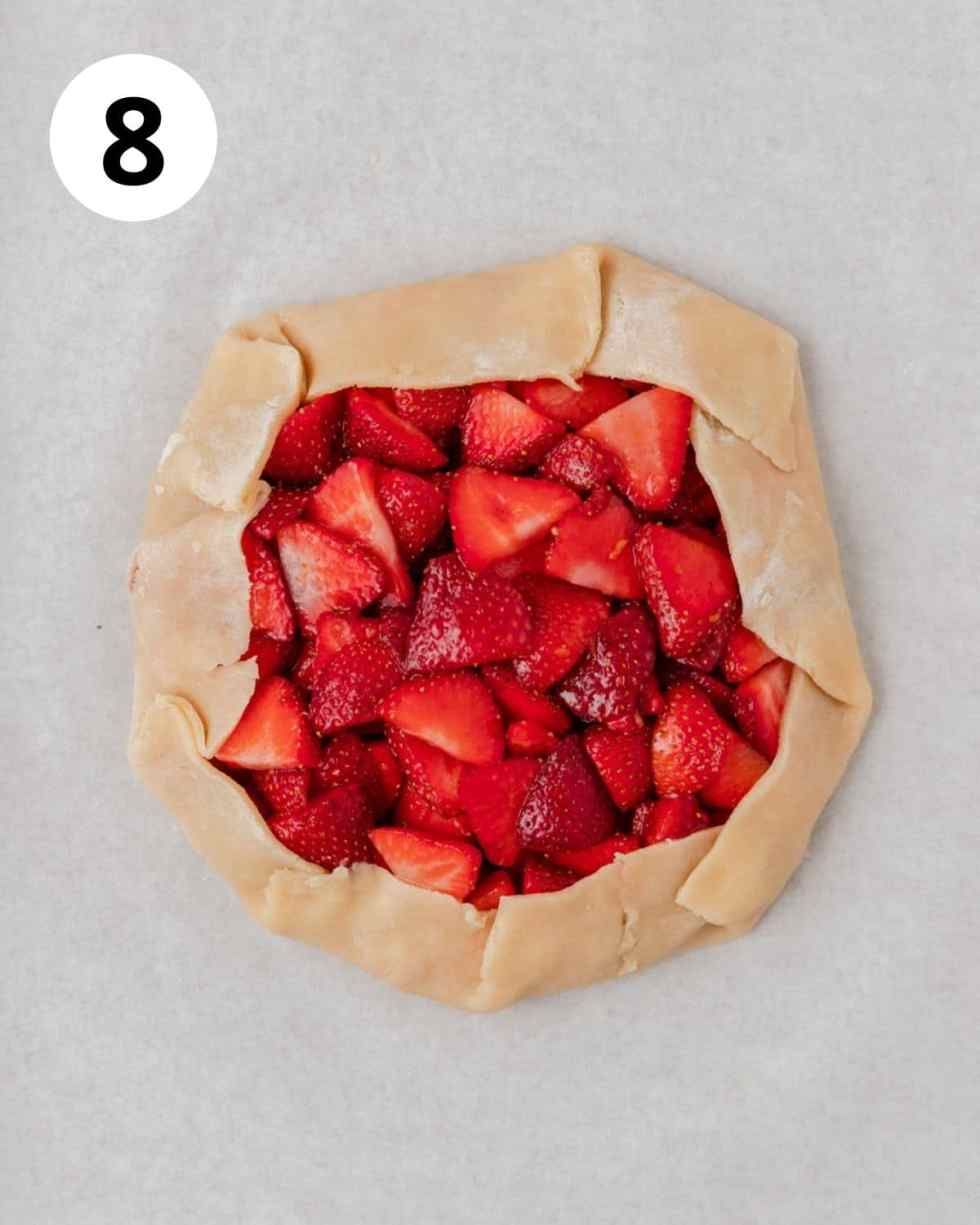 strawberry galette before baking
