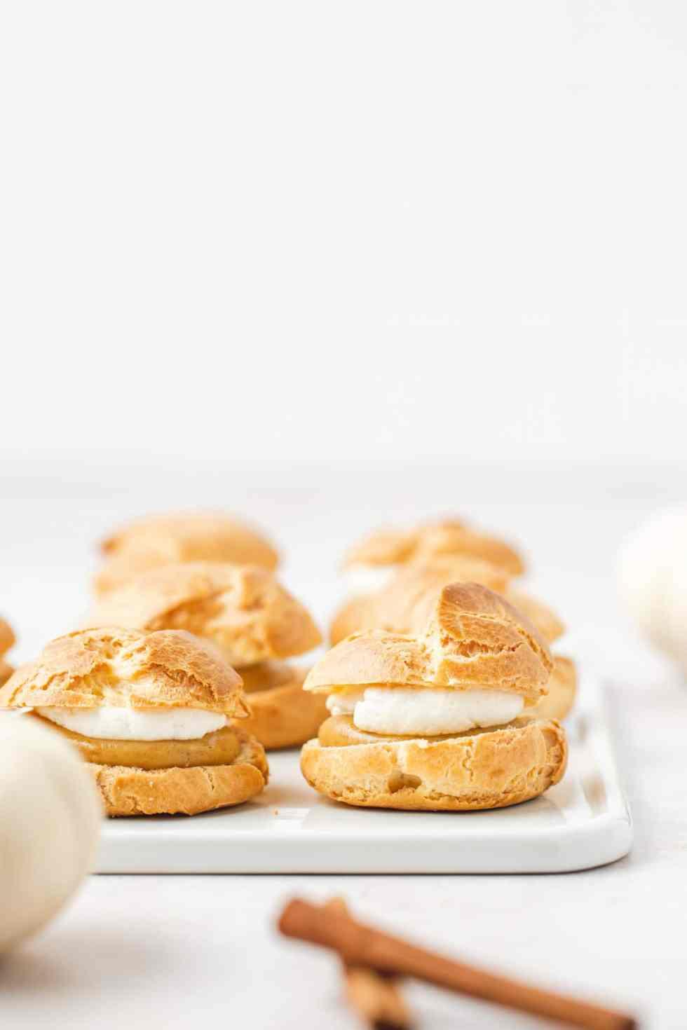 pumpkin cream puffs without powdered sugar