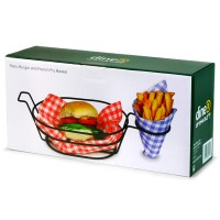 Retro Burger and French Fry Basket   Burger Holder Chip ...