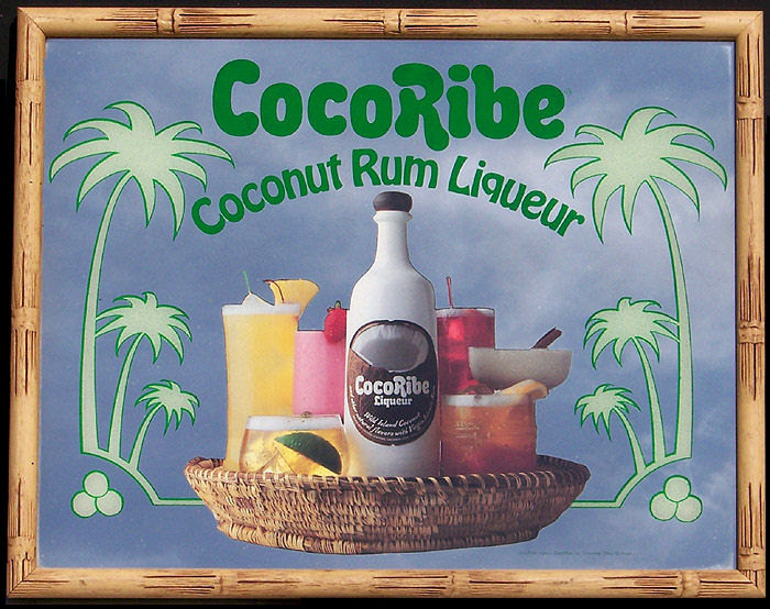 CocoRibe Coconut Rum Liqueur Simulated Bamboo Frame