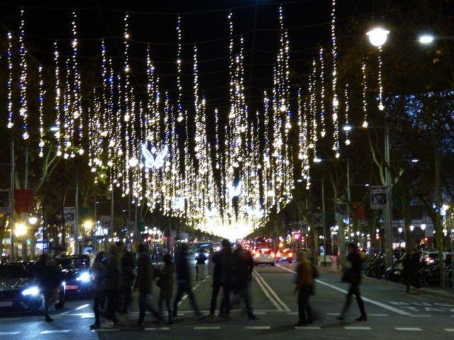 Iluminación de Navidad del Paseo Gracia
