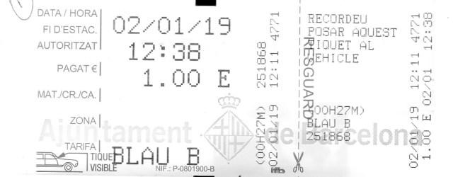 Ticket de zona azul