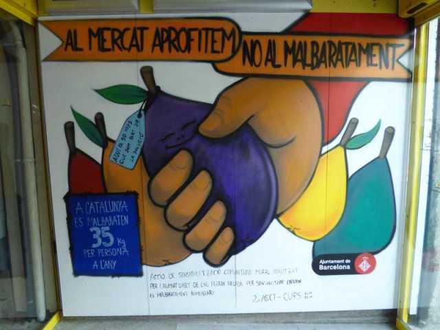 Mural de los alumnos del Ferran Tallada