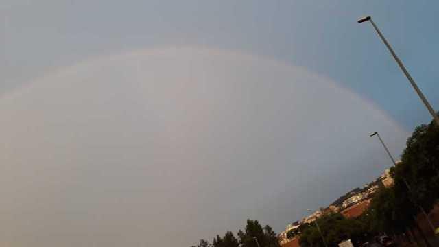 Arco Iris sobre Horta. casi entero