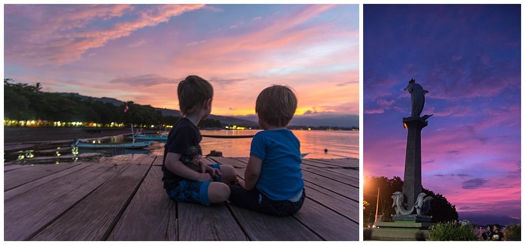 Solnedgang i Lovina