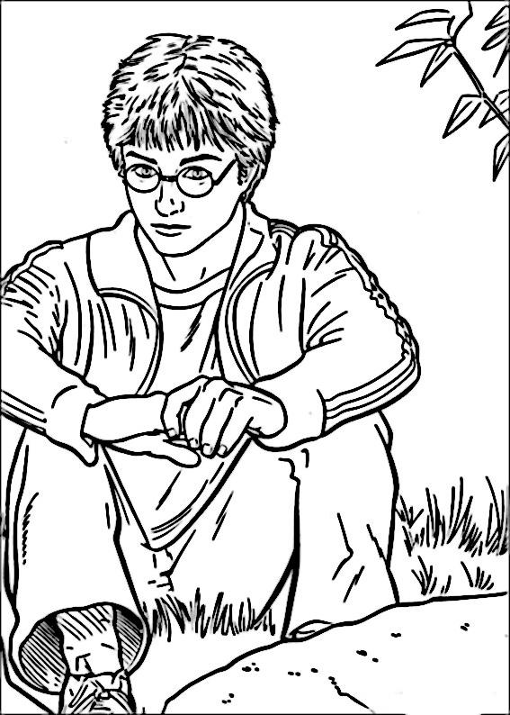 Gratis Utskrivningsbara Målarbilder Harry Potter 33