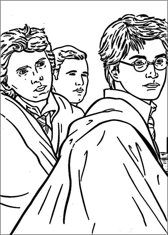 Teckningar att skriva ut Harry Potter 35