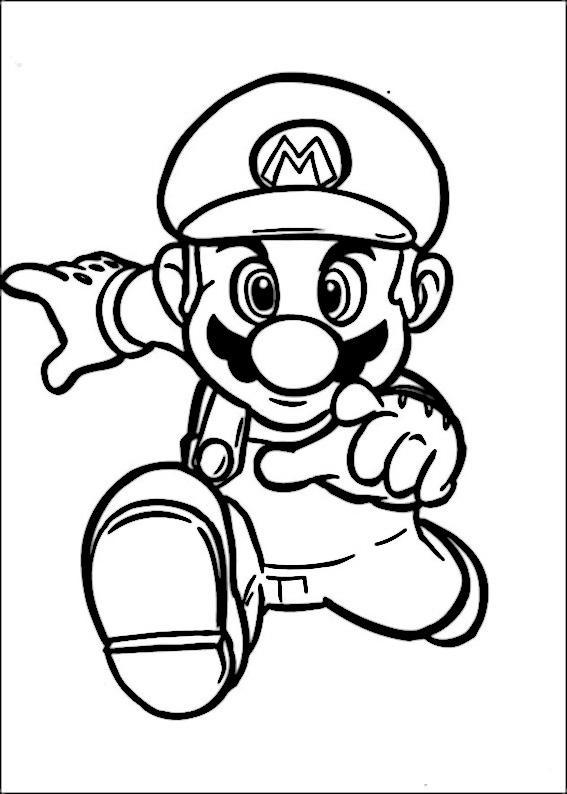 Färgläggningsbilder Mario Bros 32