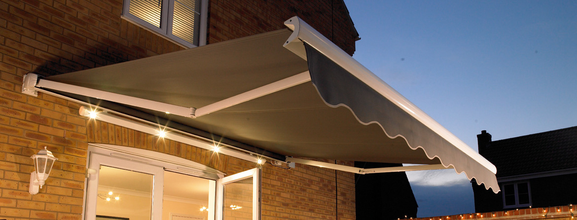 House awnings from Barnes Blinds in Stoke-on-Trent