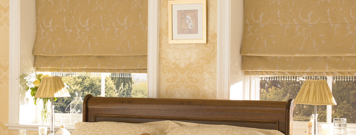 Luxury roman blinds from Barnes Blinds in Stoke-on-Trent