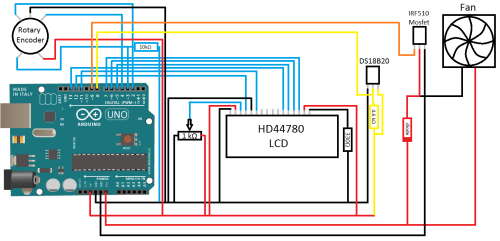 small resolution of schematic for fan controller