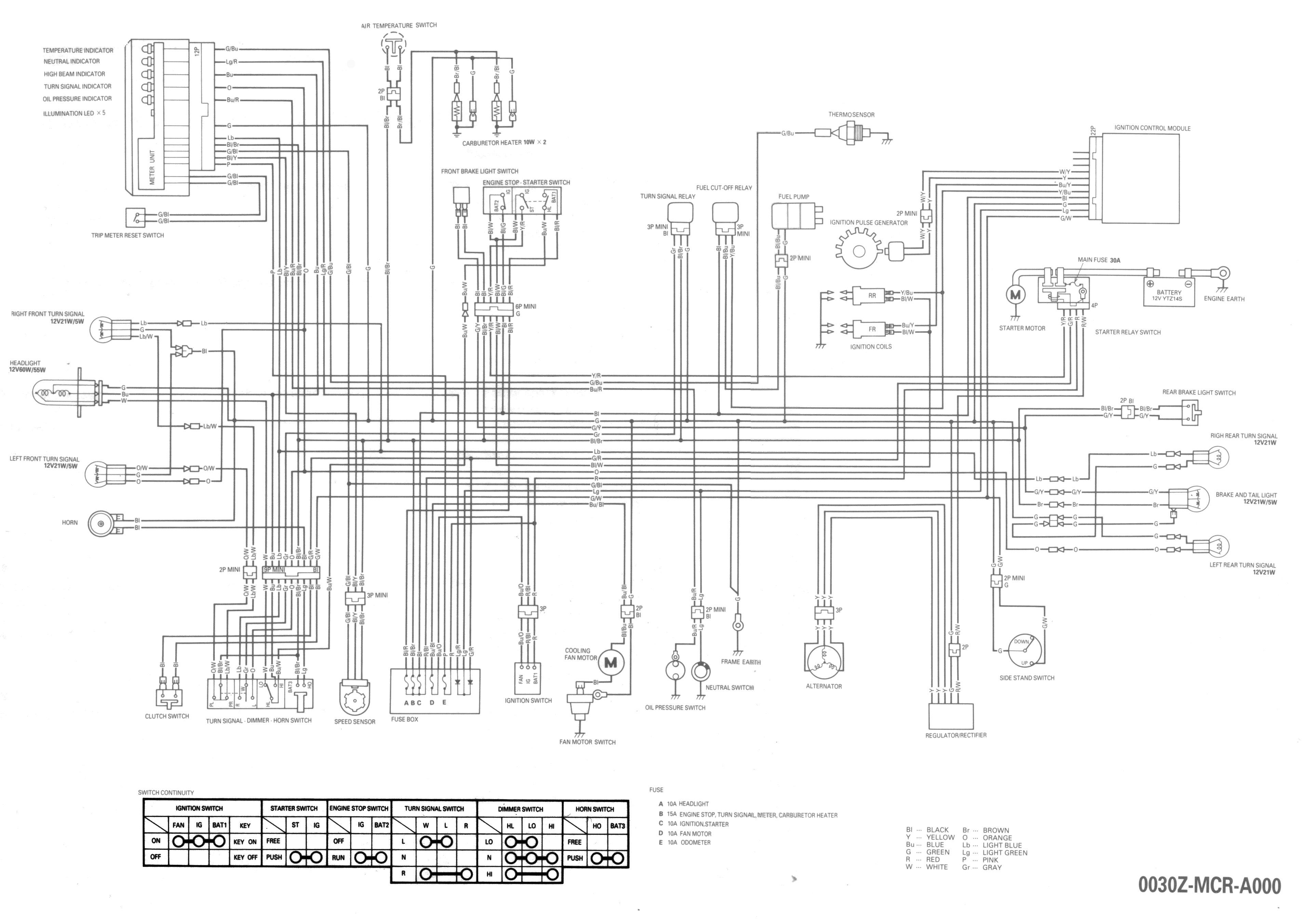 2009 honda shadow aero wiring diagram