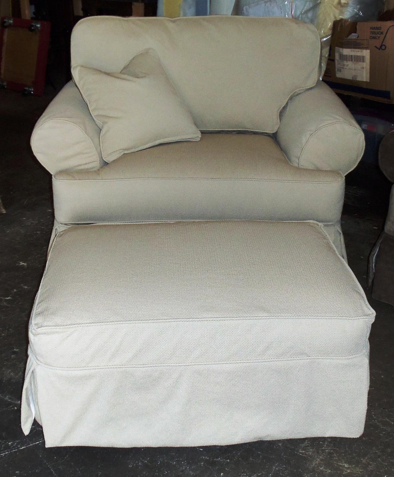 chair and a half slipcovers danish modern barnett furniture rowe addison slipcover