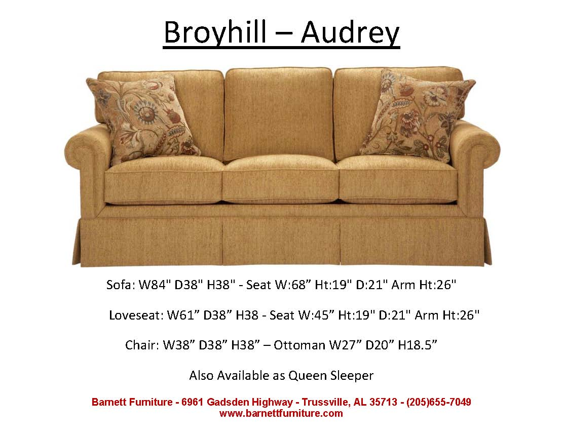 reclining sofa leather large corner and chair broyhill audrey