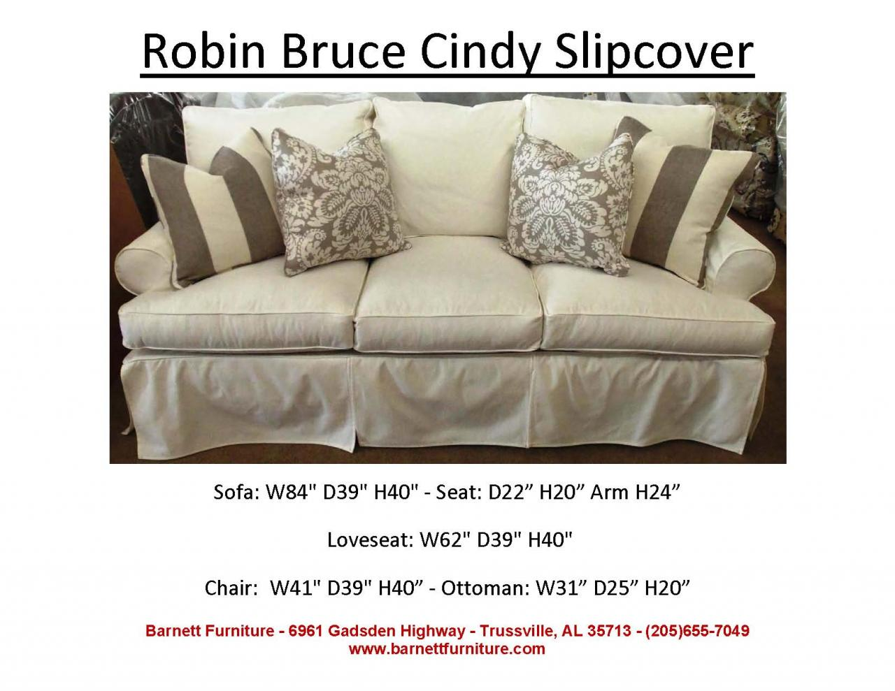 Barnett Furniture Slipcover Sofas Sectionals Chair And Ottoman