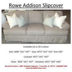 Rowe Nantucket Sofa Slipcover Replacement What Colour Goes With Dark Blue Walls Slipcovered Addison