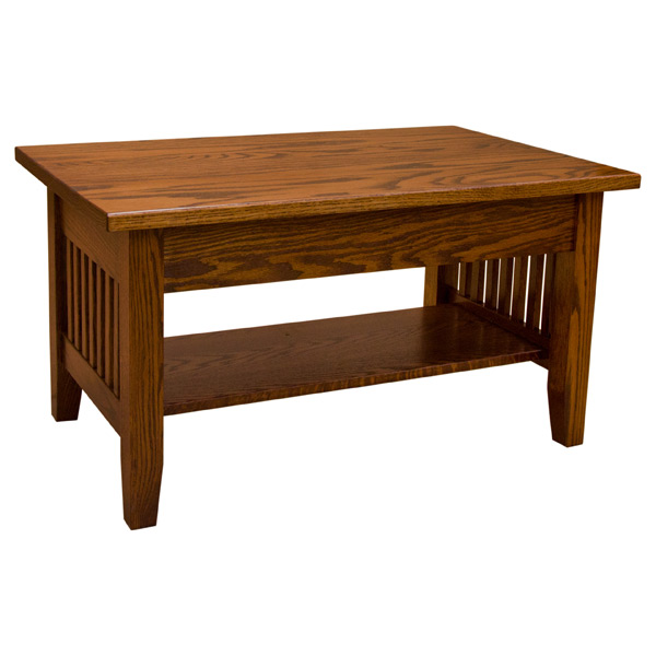 "36"" Amish Mission Lift Top Coffee Table"