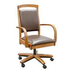 Desk Chair Made Antique Lounge Buy Solid Wood Office Chairs In Usa By Amish Crafters