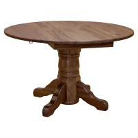 "Walnut 48"" Round Dining Table w/ Drop Leaf 