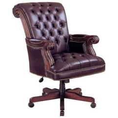 Wood And Leather Executive Office Chairs How To Repair A Glider Rocking Chair Traditional Barn Furniture Craftsman Made In Usa