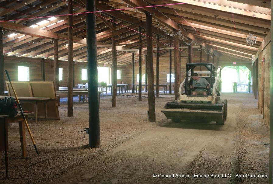 Wood Floor Addition to an Event Barn In Georgia