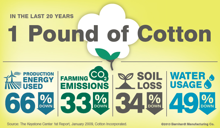 One Pound of Cotton Saves...