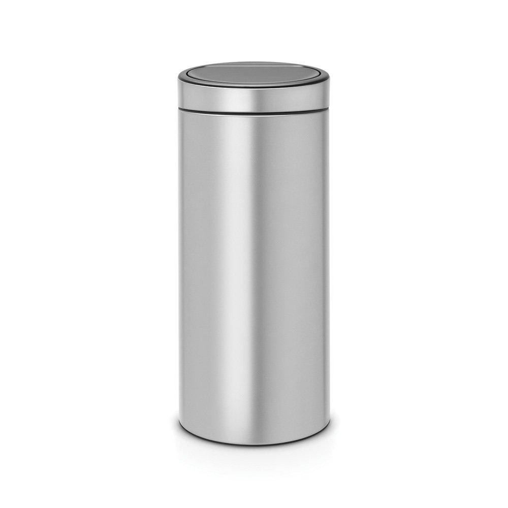 Brabantia Touch Bin 30 Litre Metallic Grey at Barnitts