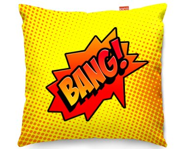 kitchen seat cushions french lace curtains kico comic pop art 45x45cm funky sofa cushion - bang at ...